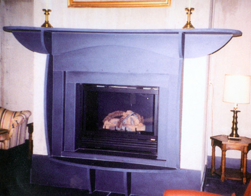 Pennsylvania Slate Interior Fireplace